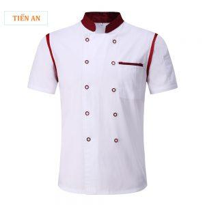 Đồng phục bếp áo cộc tay cổ tàu