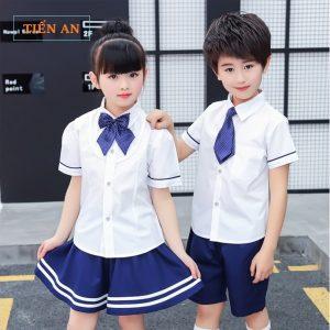 Đồng phục học sinh tiểu học đẹp, áo sơ mi
