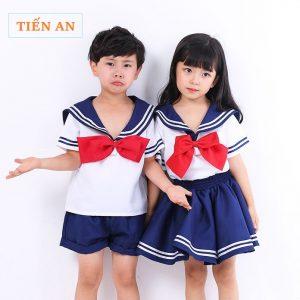 Đồng phục học sinh cấp 1 kiểu áo thủy thủ